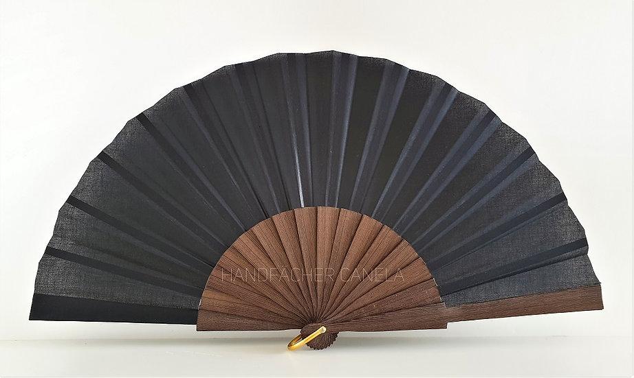 D-827-83NEG - Dezenter Handfächer aus Holz und Stoff | 25 cm