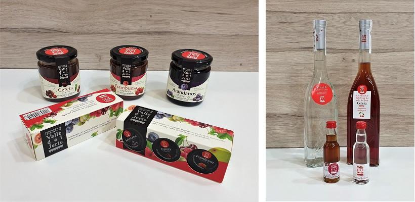Hausgemachte Marmelade, Kirschlikör und Kirschschnaps aus Valle del Jerte in Spanien