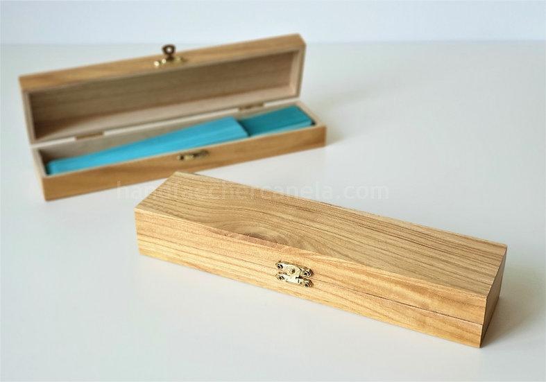 FR-508-23 cm - Aufbewahrungsbox aus Holz für Handfächer