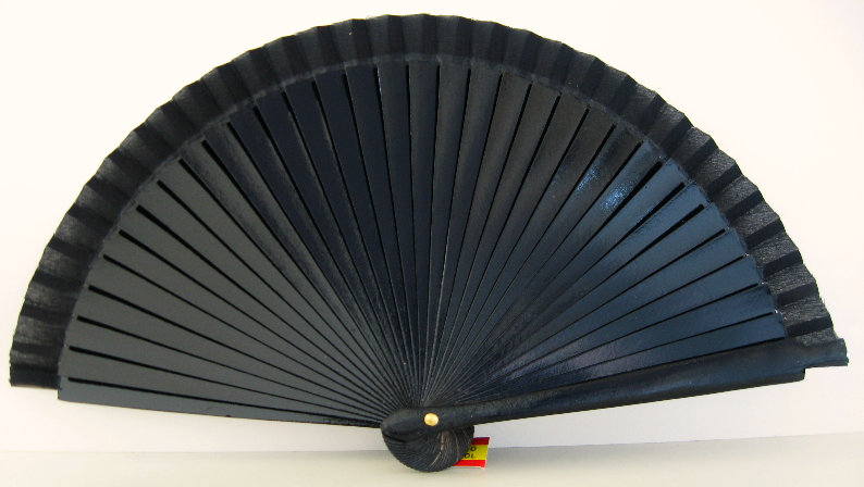 V-1100NEG - Taschenfächer Schwarz 19 cm aus lackiertem Holz