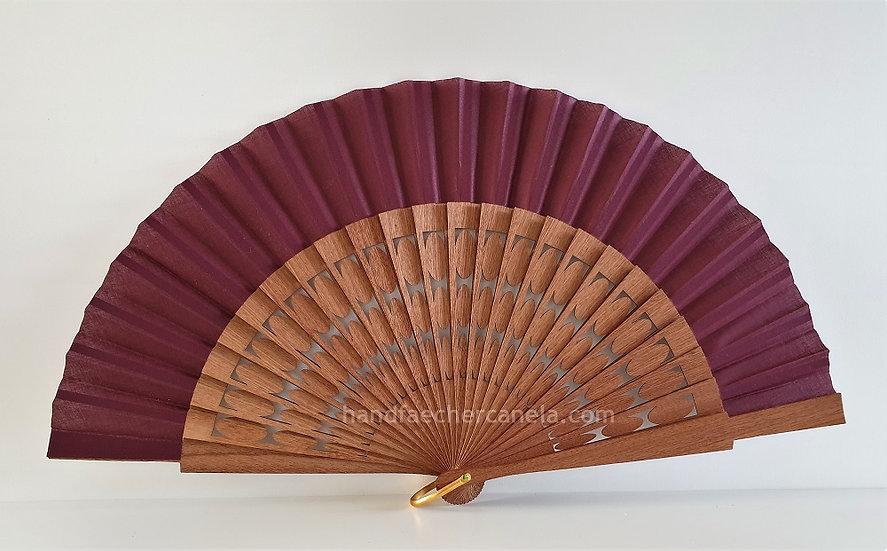 Hochwertiger Handfächer. Modernes Design mit Oval Motiven. Handgemacht in Spanien. AEA Bezeichnung.