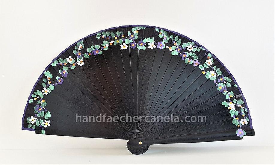 AP-2007NEG -Kleiner Handfächer handbemalt | 19 cm