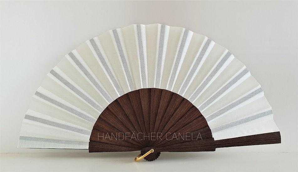 D-827MFL -Eleganter Handfächer Elfenbein Farbe