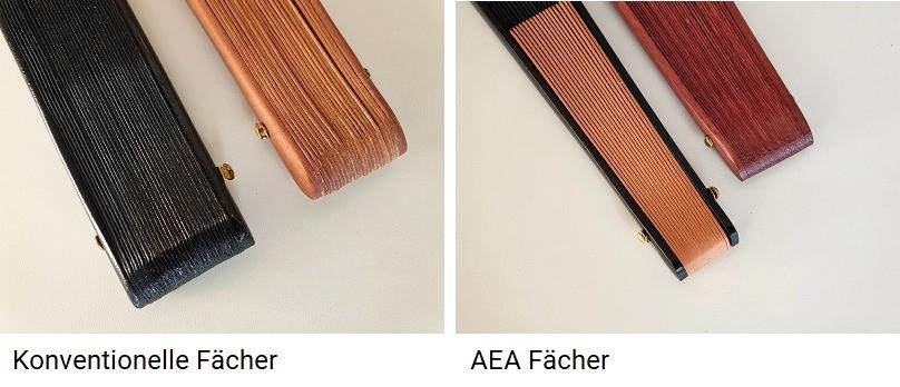 Unterschiede in der Verarbeitung eines konventionellen Fächer und ein AEA Fächer