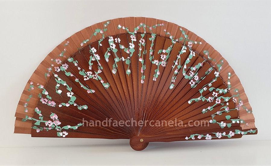 AP-2008CHO - Kleiner Fächer handbemalt mit Blumen | 19 cm