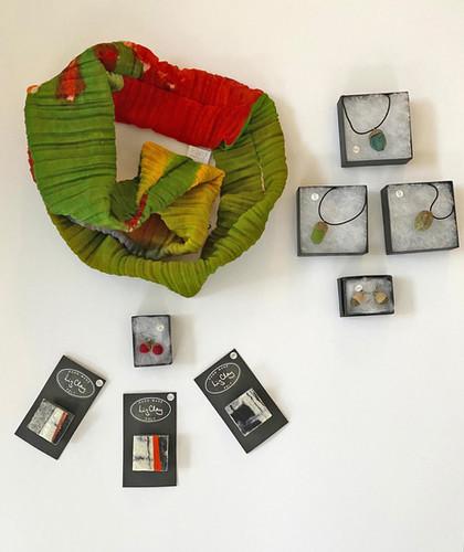Hand made felt and silk accessories