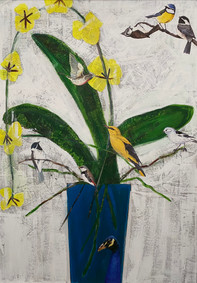 Orchid and Birds