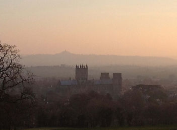 Wells Cathedral at Dusk - copyright Rebecca Barnard