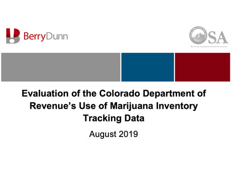 Colorado Office of the State Auditor's Evaluation of Marijuana Inventory Tracking Data