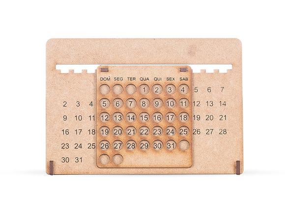 AF13854 Calendário Permanente MDF