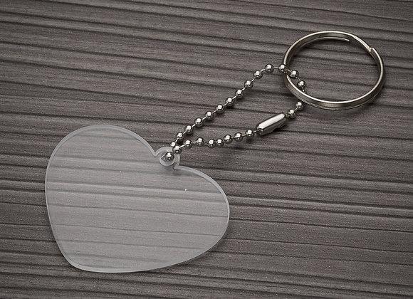 AF13275 Chaveiro Plástico Coração