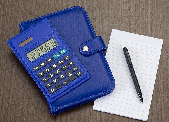 AF1620 Bloco de Anotações com Calculadora e Caneta