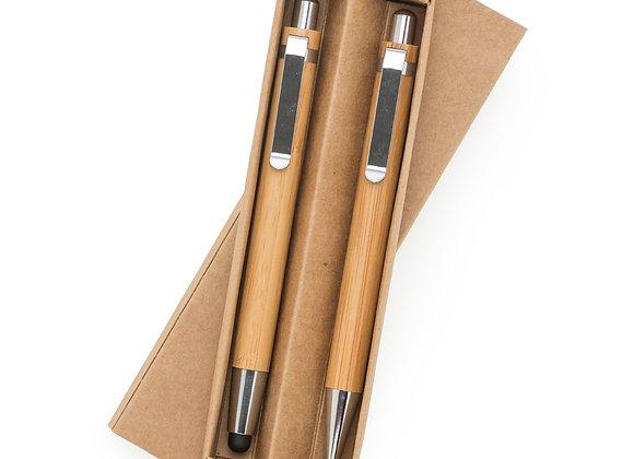 AF13796 Kit Ecológico Caneta e Lapiseira Bambu