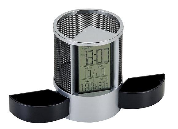 AF3328 Porta Caneta com Relógio
