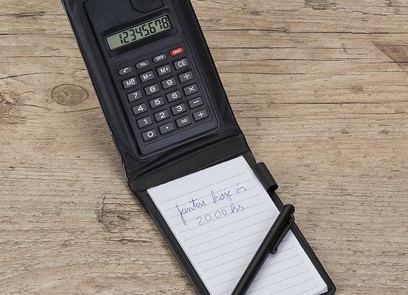 AF12521 Bloco de Anotações com Calculadora e Caneta