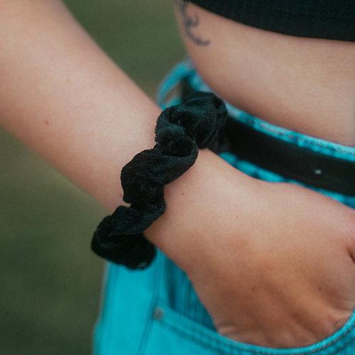 Samt Scrunchie Black