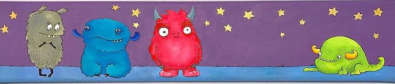 Monsters in the night - Måla en tavla kalaset