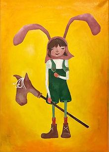 Flickan med kaninöronen