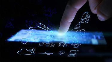 デジタル機器からIT技術が溢れ出すイメージ