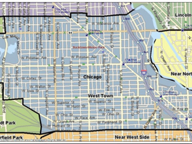 Map of Official West Town Community Area
