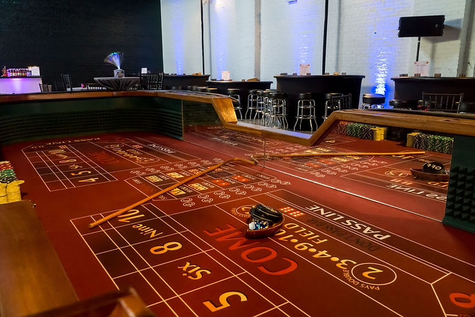 stools craps table rental