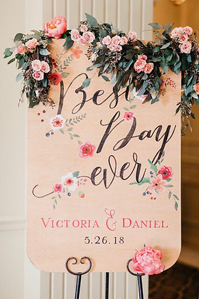 Victoria & Daniel Welcome Signage