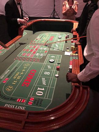 casino party companies craps table