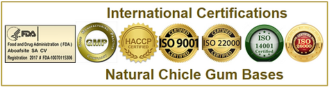 Natural chicle certifications