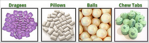 Natural chewing gum types