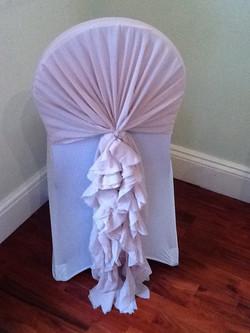 Dusty pink ruffled chiffon sash