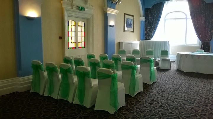 Emerald green sashes