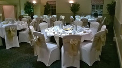 Hessian and lace sashes