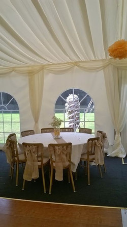 Another beautiful country wedding set up at Rosliston Forrestry Centre