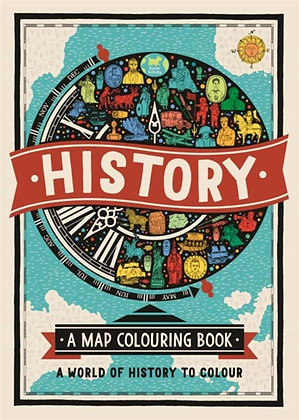 History: A Map Colouring Book : A World of History to Colour