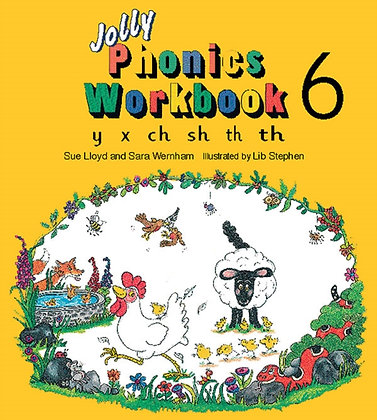Jolly Phonics Workbook 6 : y, x, ch, sh, th