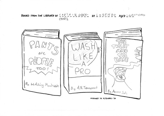 Books from the Library of Captain Underpants