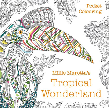 Millie Marotta's Tropical Wonderland Pocket Colouring
