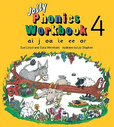 Jolly Phonics Workbook 4 : ai, j, oa, ie, ee, or