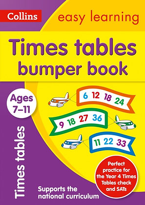 Times Tables Bumper Book Ages 7-11 : Age 7-11