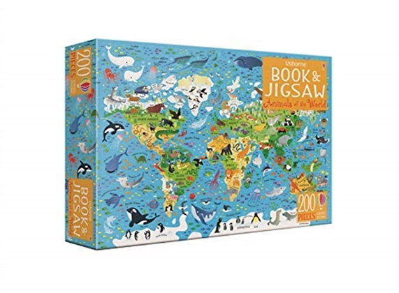 Animals of the World Book and Jigsaw