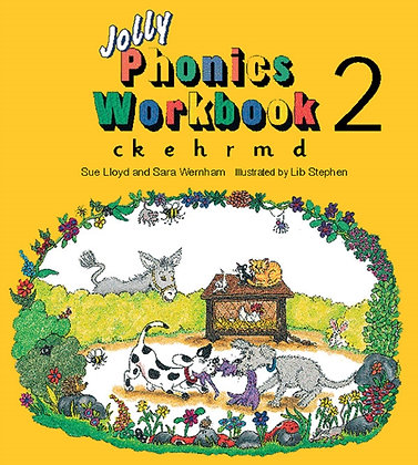 Jolly Phonics Workbook 2 : ck, e, h, r, m, d