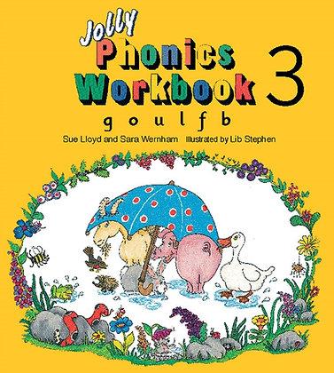 Jolly Phonics Workbook 3 : g, o, u, l, f, b