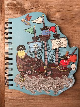 Novelty Shaped Pirate Notebook