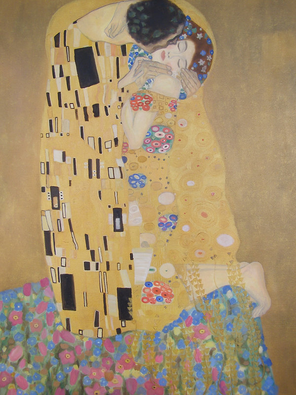Gustav Klimt's The Kiss copy oil on canv