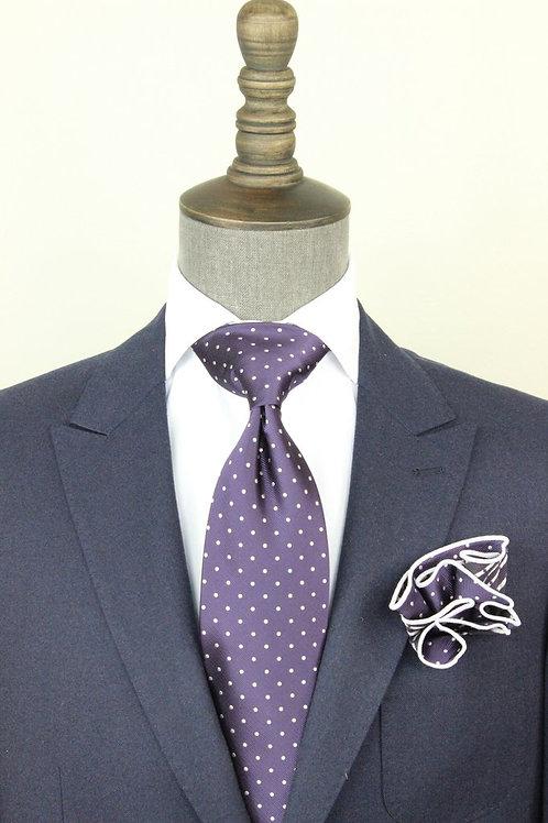 Purple Pindot Tie