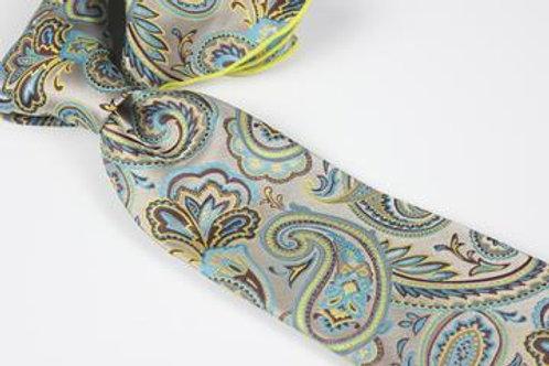 Lomami Paisley 1 - 7 Fold Tie & Pocket Round