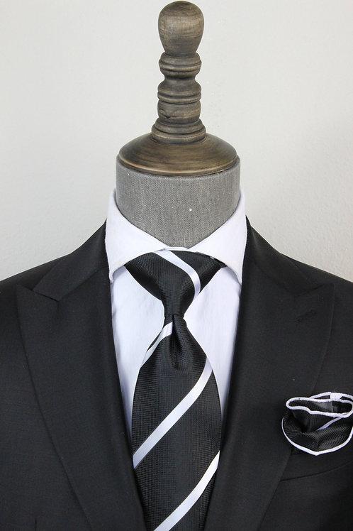 Black Stripe Tie 1