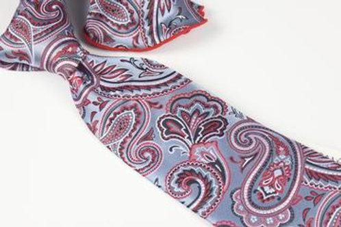 Lomami Paisley10 - 7 Fold Tie & Pocket Round