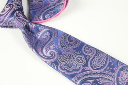 Lomami Paisley 5 - 7 Fold Tie & Pocket Round