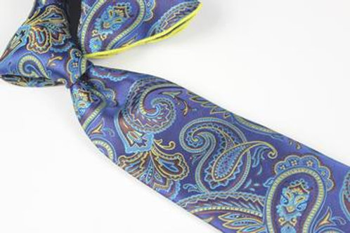 Lomami Paisley 12 - 7 Fold Tie & Pocket Round